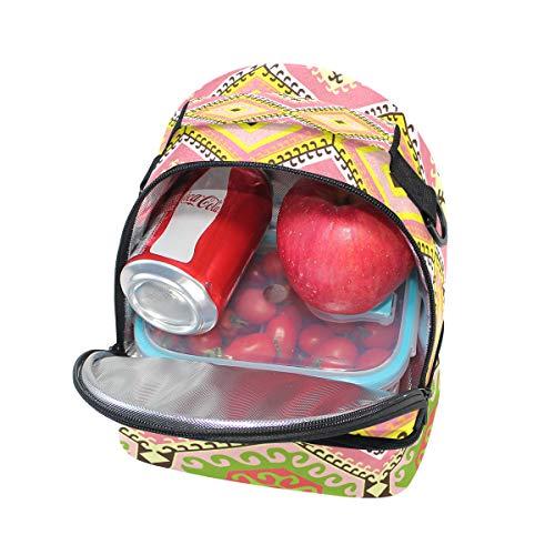 de aislamiento de escuela con pincnic con étnico floral hombro estilo vintage la con el para ajustable almuerzo estampado Bolso para correa zHpxUqzd