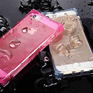 Zaki Unique Crystal Clear Ice Cube with LED Flashing Designed TPU Case for iPhone 6 Plus (Assorted Colors) , Transparent