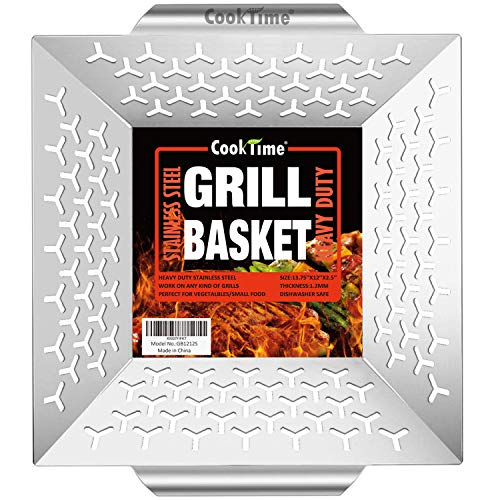 Cook Time Basket Grilling 13 75X12X2 5inches
