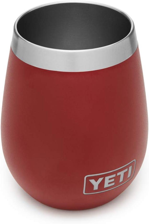 Amazon Com Yeti Rambler 10 Oz Wine Tumbler Vacuum Insulated Stainless Steel Brick Red Sports Outdoors