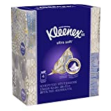 Kleenex Ultra Soft Facial Tissues, Cube Box, 50 Tissues per Cube Box, 4 Packs
