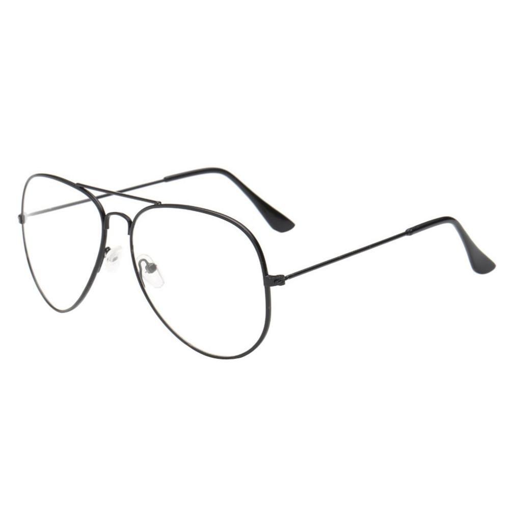 Amlaiworld Occhiale,Uomo donne occhiali da vista lente metallo telaio miopi occhiali (Nero) Amlaiworld-2