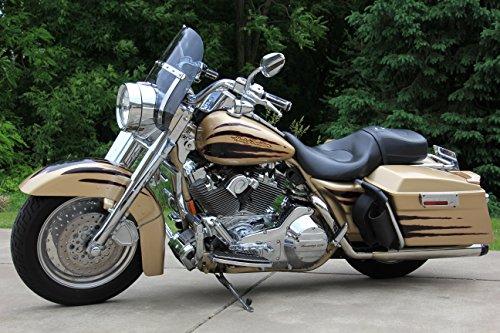 Harley Davidson Road King dark tinted shorty windshield 14.25