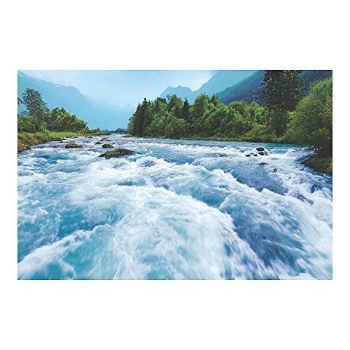 Fun Express - River Canyon Vbs Rapids Backdrop Banner - Party Decor - Wall Decor - Preprinted Backdrops - 3 Pieces]()