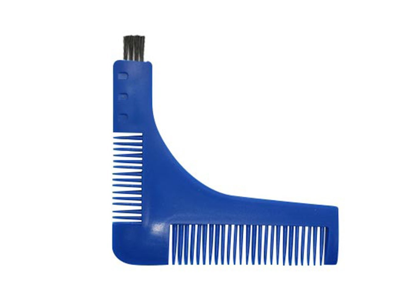 KingNew Beard Styling Template Comb Tool Perfect Lines Symmetry Shape Face Neck Line Moustache comb (Royal blue)