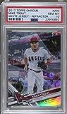 #4: Mike Trout PSA GRADED 10 (Baseball Card) 2017 Topps Chrome - [Base] - Refractor #200.1