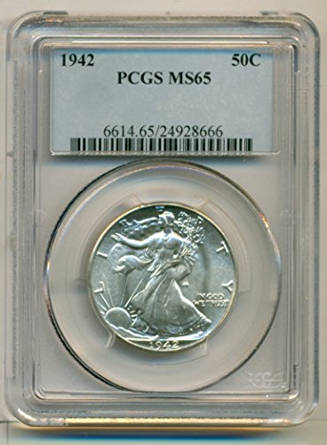 1942 Walking Liberty Silver Half Dollar MS65 PCGS