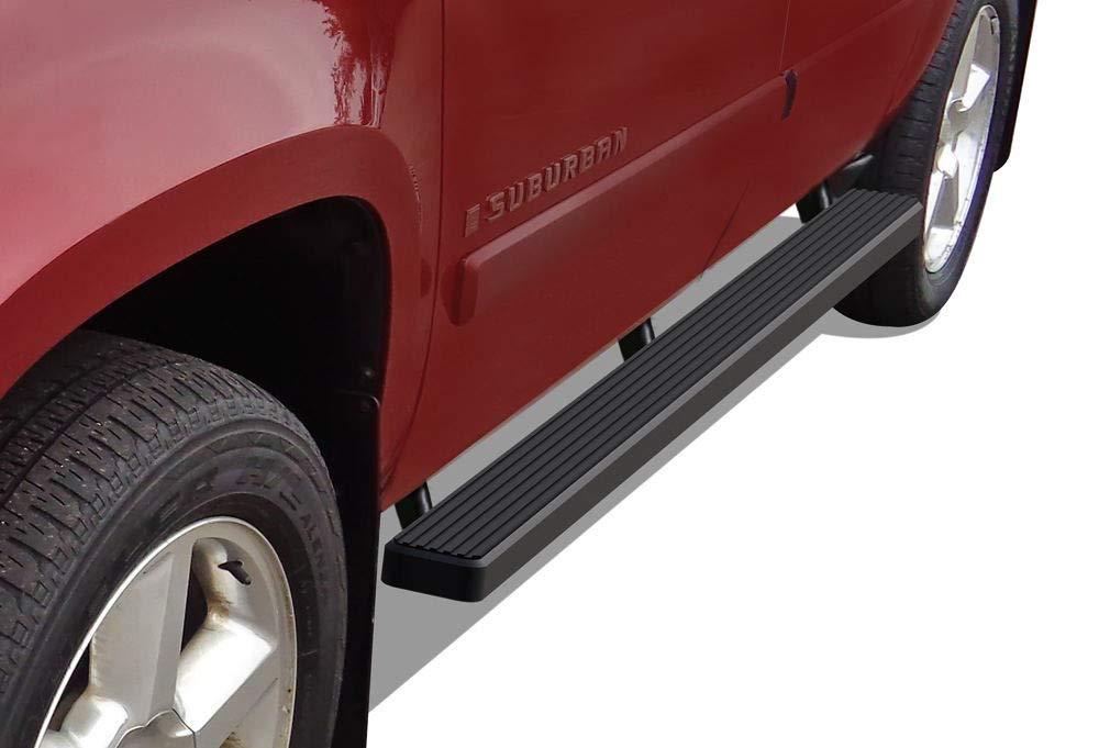 "iBoard Running Boards 4/"" Black Fit 00-19 Chevy Avalanche//Suburban//GMC Yukon XL"
