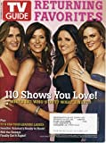TV Guide September 15, 2008 Brooke Shields/Lipstick Jungle & Kate Walsh/Private Practice & Julia Louis-Dreyfus/The New Adventures of Old Christine & Emily Deschanel/Bones on Cover, Emmy Awards, Returning Favorites