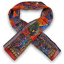 Laurel Burch `Fantasticats` Silk Cat Scarf