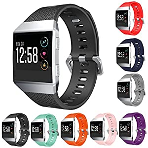 StrapsCo Silicone Rubber Watch Band Strap for Fitbit Ionic