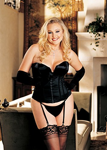 Shirley Hollywood Costumes (Shirley of Hollywood Women's Plus-Size Break Away Zipper Front Corset, Hot Pink, 38)