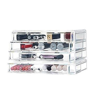 Cozihoma Organisateur Maquillage Acrylique Bijoux 4 Cosmétiques Rangement  Boite Organisateur Maquillage Pour Le Rouge à Lèvres 7a6d68581c7a