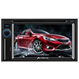 PUMPKIN Double Din Car Stereo Receiver DVD MP5 Player 6.2 Inch Capacitive Touchscreen Radio,
