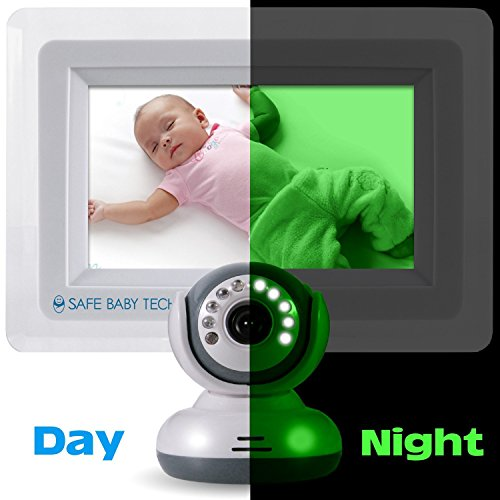 safebabytech 7 inch lcd baby monitor with wireless digital camera baby vide. Black Bedroom Furniture Sets. Home Design Ideas