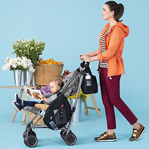 Skip Hop Grab and Go Attachable and Insulated Side Sling Stroller Saddle Bag and Organizer, 2 Pockets, Black by Skip Hop (Image #8)