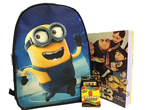 Cool Sacks Despicable Me 2 Minion School Backpack Bundle One Size Black