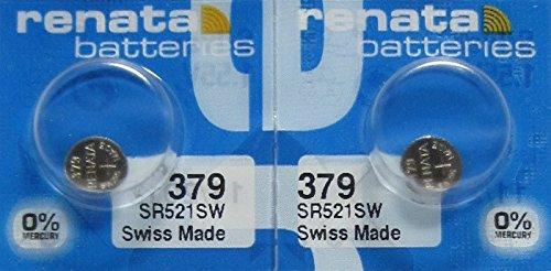 Renata 2 Silver Oxide 379 Zero Mercury Electronic Batteries