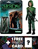 Green Arrow: Funko x Super 7 x Arrow The TV Series ReAction Series + 1 FREE Official DC Trading Card Bundle [53628]