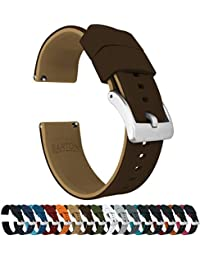 20mm Brown/Khaki - Barton Elite Silicone Watch Bands - Quick Release - Choose Strap Color & Width