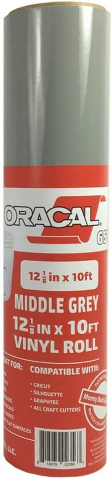ORACAL 651 Outdoor Permanent Vinyl MIDDLE GREY 12in x 10ft Roll
