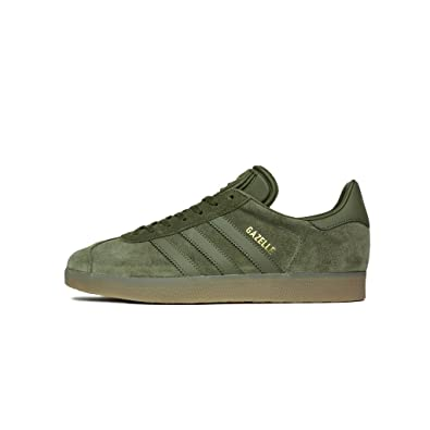 adidas Mens Gazelle Olive Suede Trainers 8.5 US