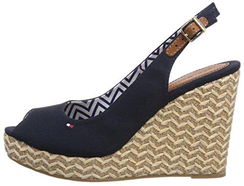 Sandals Blue Heels Tommy Women's Emery Hilfiger Wedge 403 Blue 62d qqASvxY