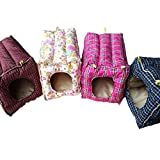 Hammock Hanging Bed,Petforu Hanging Warm Cotton Pet Hammock Small Animals Nest Bed House Cage for Rabbit Squirrel Ferret Guinea Pig Hamster - Color Random