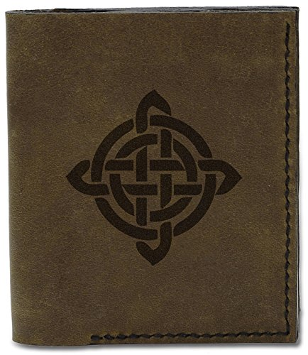 Circle Design 9 Natural Celtic d Circle Wallet Celtic Genuine Leather Handmade Men's Tattoo MHLT Tattoo 04 qOPnwZac6