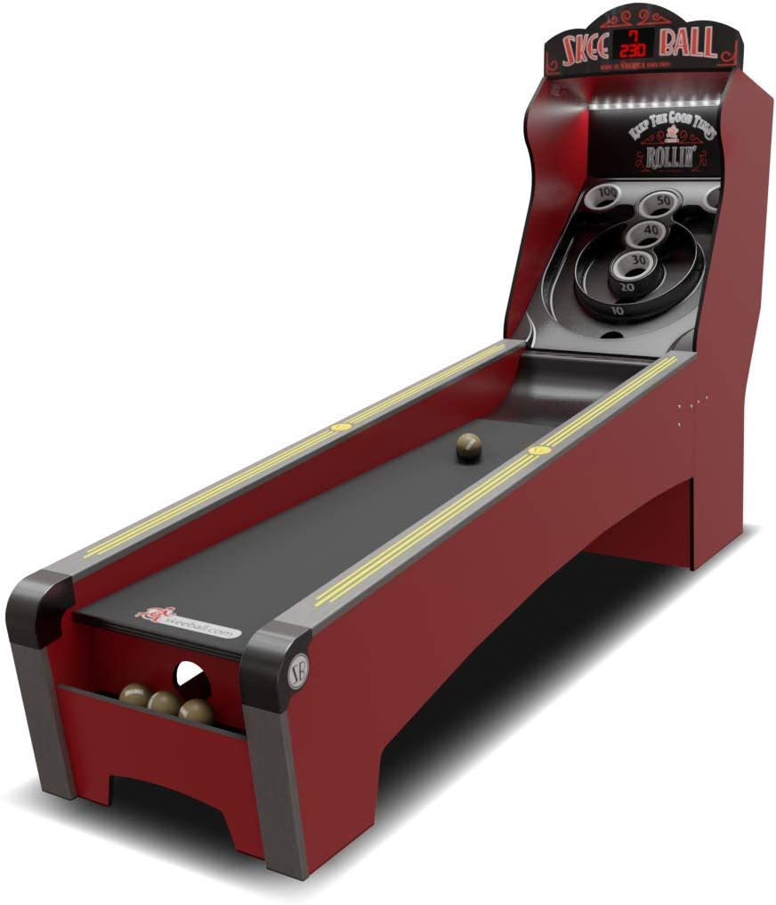 Skee-Ball Arcade Table Machine Game for Home Basement Recreation Room - Deluxe Nostalgic Classic Family Fun of Roll and Score - Made in The USA