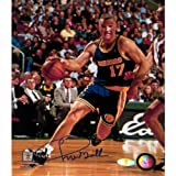 NBA Golden State Warriors Chris Mullin Drive to Basket Right Handed Vertical Photograph, 8x10-Inch