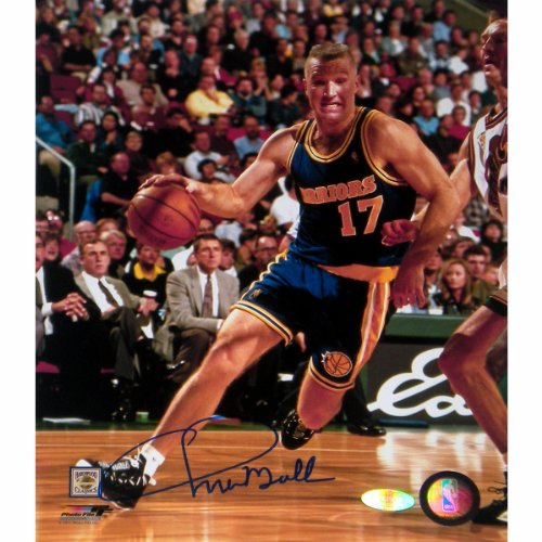 NBA Golden State Warriors Chris Mullin Drive to Basket Right Handed Vertical Photograph, 8x10-Inch by Steiner Sports