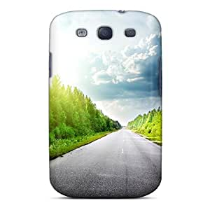 Fashion Protective Endless Road In A Grove Of Trees Case Cover For Galaxy S3