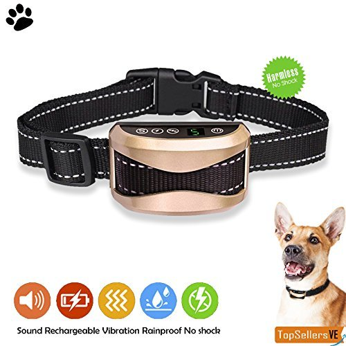 Cheap Dog Bark Collar By TopSellersVE [2018 smart chip] – 7 sensitive levels – Dog shock collar with beep, vibration and harmless shock, rechargeable USB and waterproof mode, for small medium and large dogs
