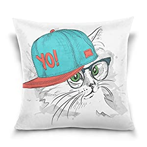 20 Square Throw Pillow Covers : Amazon.com: MRMIAN Throw Pillow Covers Cushion Case Cat Glasses Design Square Comfortable20