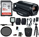 Canon VIXIA HF R800 Camcorder (Black) with 32GB SD Card, Spare Battery, LED Video Light &Supreme Bundle