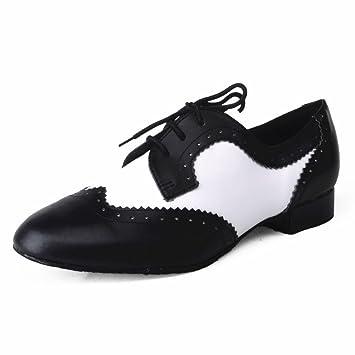 Jig Foo Zapatillas de Baile Estándar Para Hombre, Color Blanco, Talla 44 EU Talla