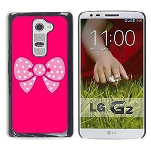 LECELL -- Funda protectora / Cubierta / Piel For LG G2 D800 D802 D802TA D803 VS980 LS980 -- Pink Butterfly Pattern --