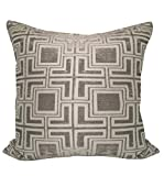 CHC-Beverly Hills Tagon Pillow Cover 26'' X 26'' Silver, 2/Pack