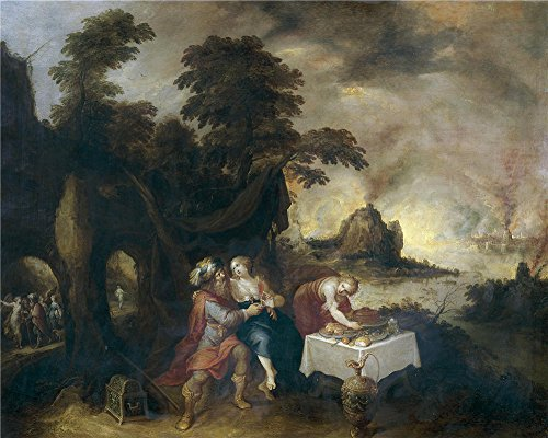Oil Painting 'Francken Frans II Lot Embriagado Por Sus Hijas ' Printing On High Quality Polyster Canvas , 8 X 10 Inch / 20 X 25 Cm ,the Best Home Office Decor And Home Decor And Gifts Is This Reproductions Art Decorative Prints On Canvas -