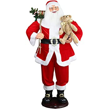 chengmon 59 inch christmas life size animated rock singing and dancing santa claus collapsible decoration - Animated Christmas Decorations Indoor