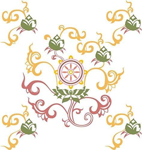 INDIGOS Vinilo Decorativo para Pared MD475 Caja de Reciclaje para el Medio Ambiente 40 x 37 cm 40x37x8 cm Multicolor