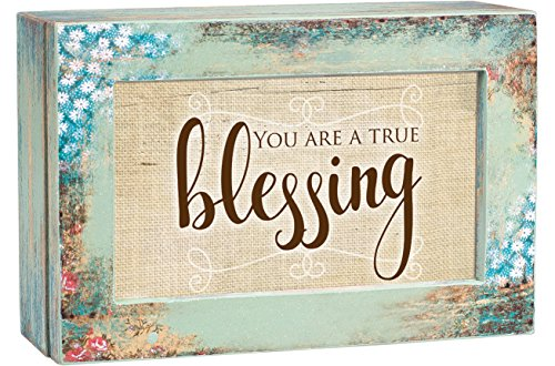 Cottage Garden You are a True Blessing Distressed Wood Jewelry Music Box Plays Tune How Great Thou Art