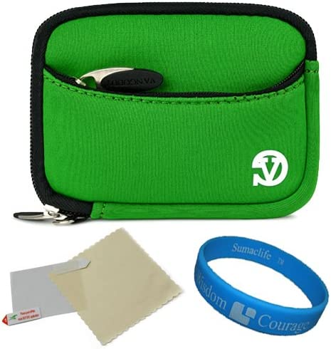 VanGoddy Mini Glove Sleeve Pouch Case for General Imaging Digital Cameras and Screen Protector Green