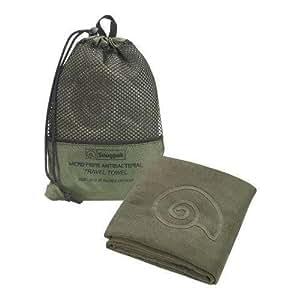 SnugPak Microfibre Antibacterial Travel Towel, Olive, Medium SP97300