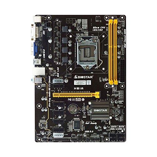 BIOSTAR H81A LGA 1150 Intel H81 6GPU Mining Motherboard CryptoCurrency
