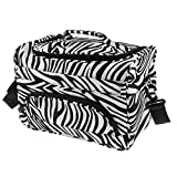 zebra hair dryer - Jili Online New Large Hair Tools Bag Zebra Design Hairdressing Salon Tools Carry Case for Hair Styling Equipments Storage