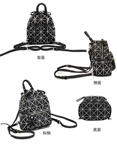 22 grande borsa Zaino donna borsa moda tracolla a numero di casual Tote nero Poke  BOOpPq