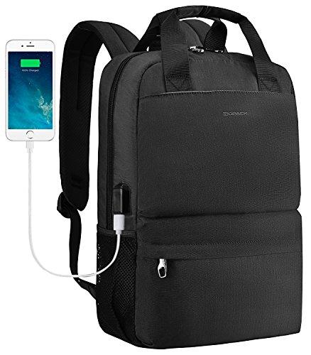 Kopack College Backpack W Usb Charging Port Lightweight Slim Laptop Bag For Business Travel 15 15.6 IN KP677 by kopack