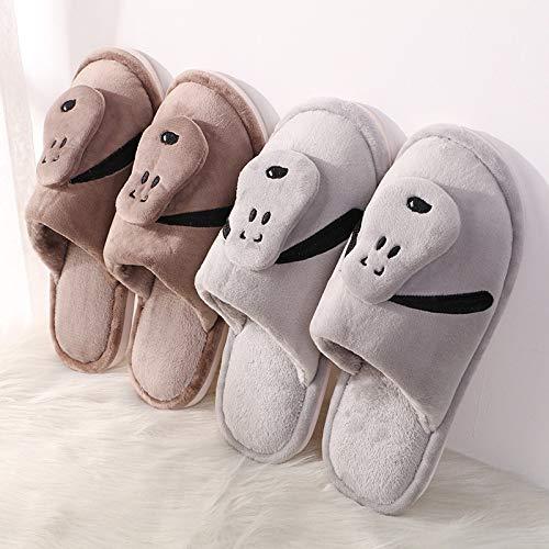 Cotone Calde Casa Pantofole Wei Weiwei E Comode Velluto Caffè Di A xFpwnA